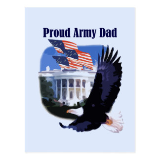 Eagle Proud Army Dad Tshirts and Gifts Postcard