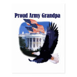 Eagle Proud Army Grandpa Tshirts and Gifts Postcard