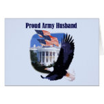 Eagle Proud Army Husband Tshirts and Gifts Card