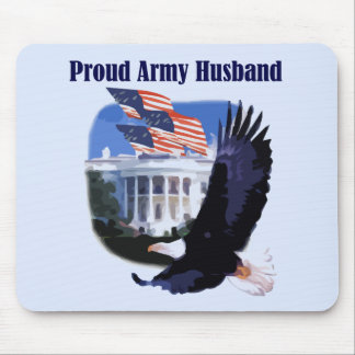 Eagle Proud Army Husband Tshirts and Gifts Mouse Mat