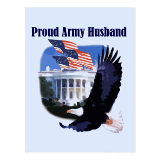 Eagle Proud Army Husband Tshirts and Gifts Post Card