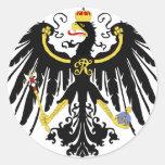 Eagle prusiano etiqueta redonda