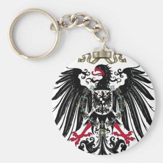 Eagle prusiano llavero redondo tipo pin