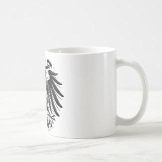 Eagle prusiano negro taza de café