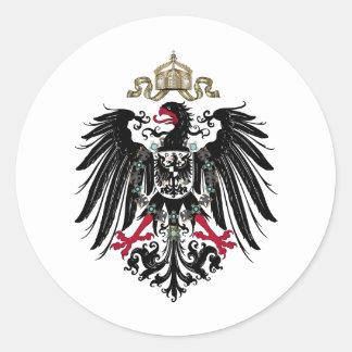 Eagle prusiano pegatina redonda