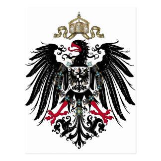 Eagle prusiano postales
