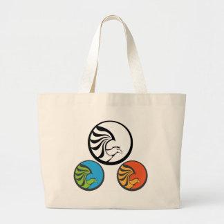 Eagle Punk Icon Large Tote Bag