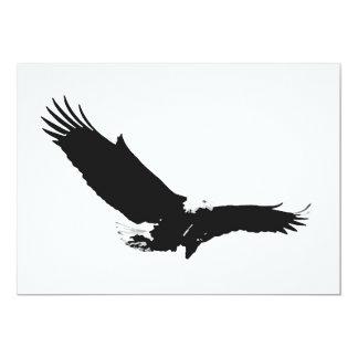 Eagle que aterriza la invitación