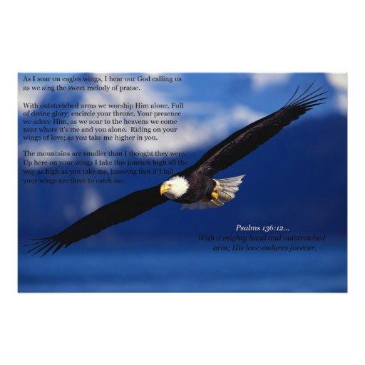 Eagle que se eleva arriba impresiones fotograficas