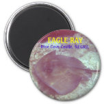 EAGLE RAY, Blue Cave Castle, NEGRIL Refrigerator Magnet