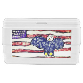 Eagle red and blue chest cooler