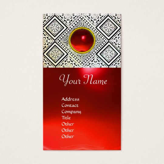 EAGLE ,Red ruby Business Card