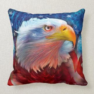 Eagle - Red White Blue Art Decorator Pillow