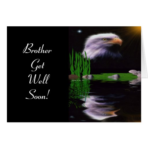 Eagle Reflections Greeting Card