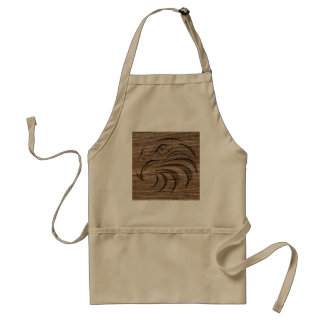 Eagle Relief Carving On Exotic Hardwood Adult Apron