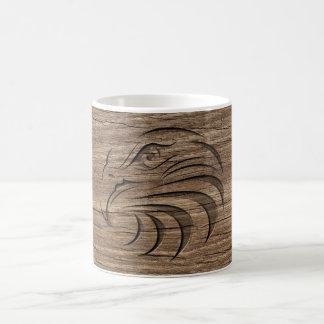 Eagle Relief Carving On Exotic Hardwood Coffee Mug