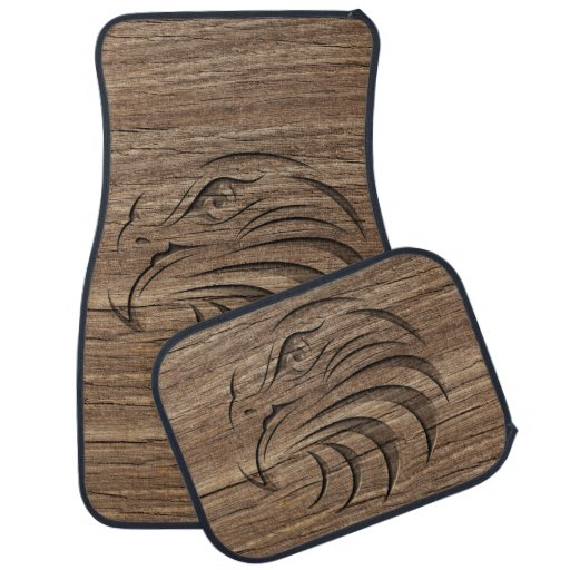 Eagle relief carving on exotic hardwood floor mat zazzle