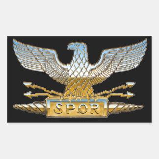 Eagle republicano romano en cromo rectangular altavoces