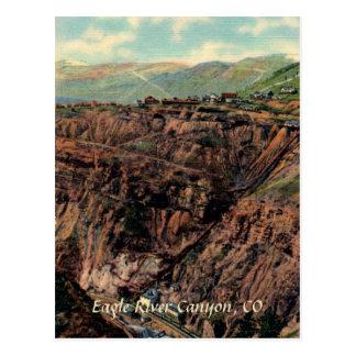 Eagle River Canyon Vintage Postcard