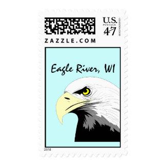 Eagle River Wisconsin WI Bald Eagles Bust STAMPS