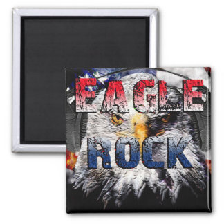 Eagle Rock2 2 Inch Square Magnet
