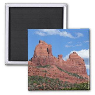 Eagle Rock I Sedona Arizona Travel Photography 2 Inch Square Magnet