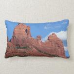Eagle Rock I Sedona Arizona Travel Photography Lumbar Pillow