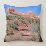 Eagle Rock II Sedona Arizona Travel Photography Throw Pillow