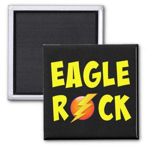 Eagle Rock Lightning Bolt 2-inch Square Magnet