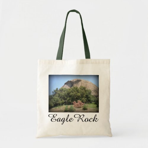 Eagle Rock Monument in Los Angeles, California Budget Tote Bag
