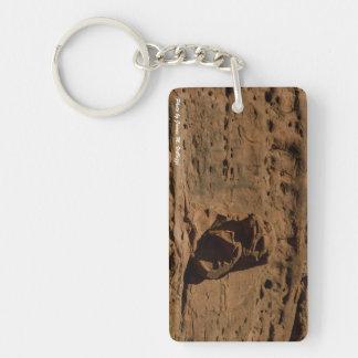 Eagle Rock, Sedona, AZ Single-Sided Rectangular Acrylic Keychain