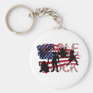 Eagle Rock USA Basic Round Button Keychain