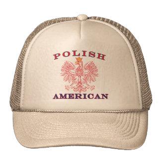 Eagle rojo americano polaco gorros bordados