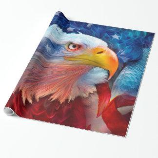 Eagle - rojo, papel de regalo blanco, azul del