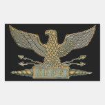 Eagle romano de cobre etiquetas
