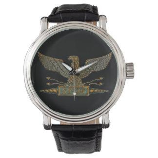 Eagle romano de cobre relojes de pulsera