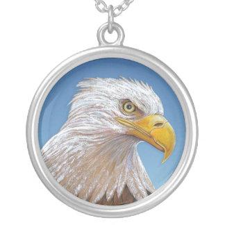 Eagle Round Pendant Necklace