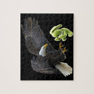 Eagle scares to a teddy jigsaw puzzle