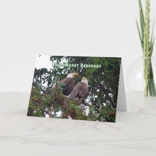 Eagle Scout Ceremony Invitation Bald Eagles Card