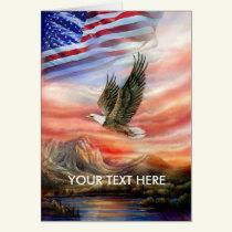Eagle Scouts the Horizon as U.S. Flag Waves