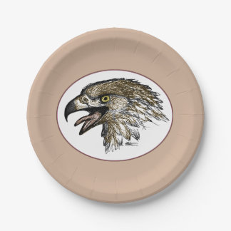 Eagle Screaming Paper Plate