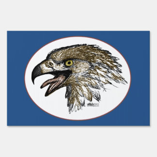 Eagle Screaming Lawn Signs