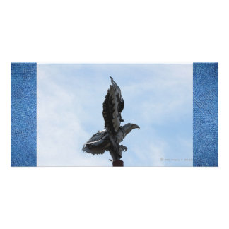 Eagle Sculpture: Frozen in Flight Photo Greeting Card