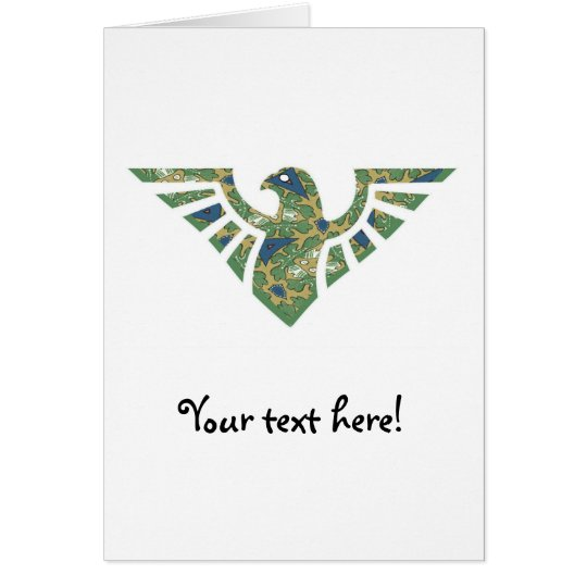 Eagle Silhouette - 02 Navy Blue and Green Card