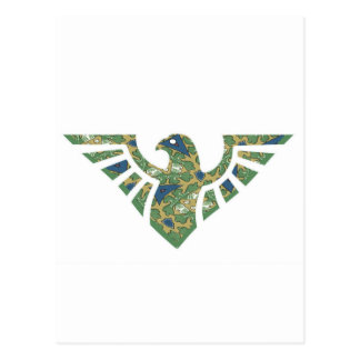 Eagle Silhouette - 02 Navy Blue and Green Postcard