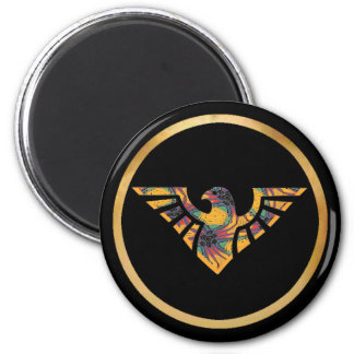Eagle Silhouette - 04 2 Inch Round Magnet