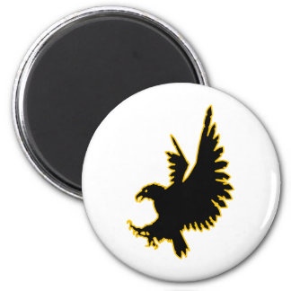 Eagle Silhouette 2 Inch Round Magnet