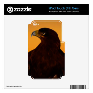 Eagle silhouette at sunset iPod touch 4G skins