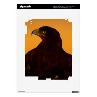 Eagle silhouette at sunset skin for iPad 3