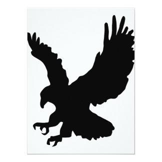 "Eagle Silhouette 5.5"" X 7.5"" Invitation Card"